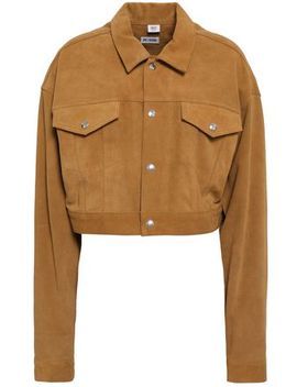 Cropped Fringed Suede Jacket by Re/Done
