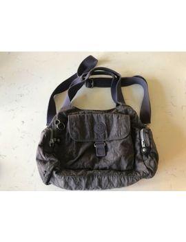 Kipling Grey Shoulder Across The Body Grab Tote Bag by Ebay Seller