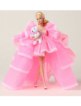 Fashion Royalty Convention Pink Powder Puff Poppy Parker Doll Dress & Accessorie by Unbranded