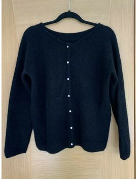 Sezane Gaspard Black Noir Jumper Cardigan Medium £90 by Sezane