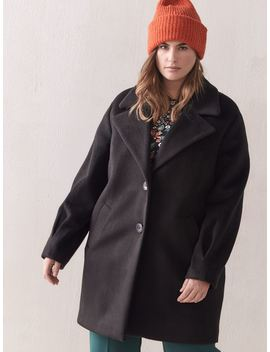 Mid Length Cocoon Coat   Addition Elle Mid Length Cocoon Coat   Addition Elle by Addition Elle