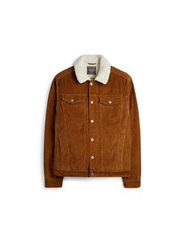Brown Fleece Collar Jacket by Primark