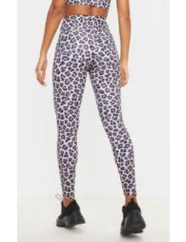 Leopard High Waist Gym Legging by Prettylittlething