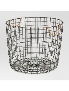 Extra Large Round Wire Decorative Storage Bin With Copper Handles   Threshold™ by Shop Collections