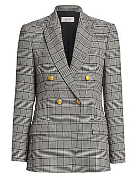 Sedgwick Ii Glen Check & Houndstooth Double Breasted Jacket by A.L.C.