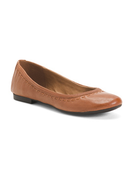 Leather Stitch Flats by Tj Maxx