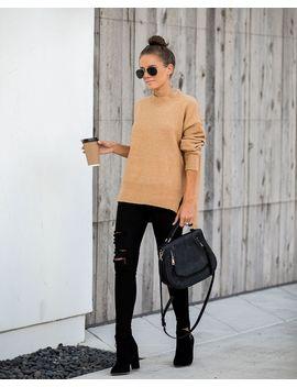 Jenner Knit Sweater   Camel by Vici