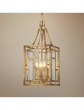 """Edgemont Park 10""""W 4 Light Pandora Gold Leaf Mini Pendant by Lamps Plus"""