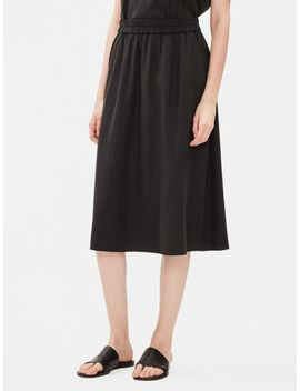 Sandwashed Tencel A Line Skirt by Eileen Fisher