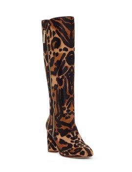 Zenia 3 Tall Leopard Print Haircalf Boots by Louise Et Cie