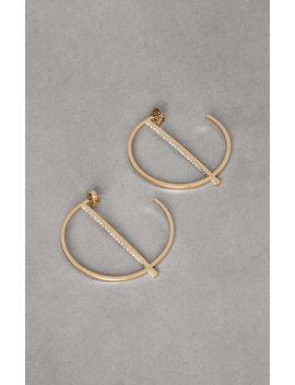 Pave Bar Hoop Earring by Bcbgmaxazria