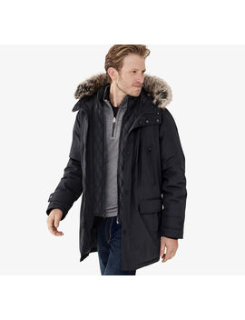 Xc4® Faux Fur Trimmed Hooded Parka by Johnston & Murphy