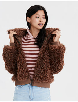 Ae  Poodle Bomber Jacket by American Eagle Outfitters