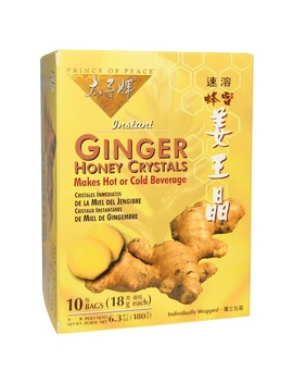 Prince Of Peace, Instant Ginger Honey Crystals, 10 Bags, (18 G) Each by Prince Of Peace