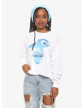 Disney Lilo & Stitch Beach Silhouette Girls Long Sleeve Crop T Shirt by Hot Topic