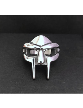 Mf Doom Mask Ring Stainless Steel Size Us 8 12 by Vintage  ×  Gold Ring  ×  Jewelry  ×