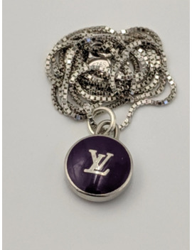 Louis Vuitton Purple Silver Bag Charm Pendant Necklace by Louis Vuitton  ×