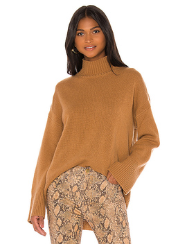 Cashmere Turtleneck In Camel Heather by Frame
