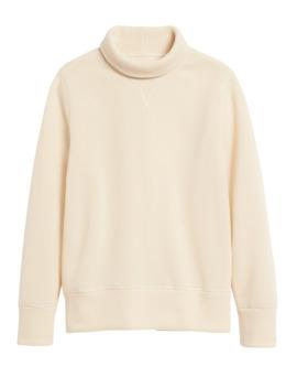 Polartec® Sweater Fleece Turtleneck Sweatshirt by Banana Repbulic