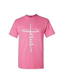 Shop4 Ever Men's Jesus Cross Religious Graphic T Shirt by Shop4 Ever