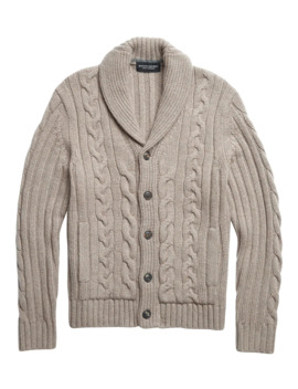 Cashmere Cable Knit Cardigan Sweater by Banana Repbulic