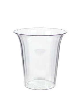 Clear Plastic Flared Cylinder Container by Party City