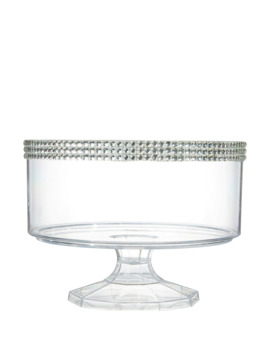 Small Rhinestone Clear Plastic Trifle Container by Party City