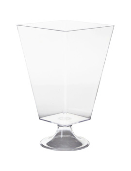 Clear Plastic Pedestal Container by Party City