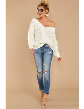 As Long As You Love Me Ivory Sweater by Main Strip Apparel