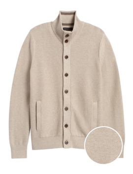 Cotton Sweater Jacket by Banana Repbulic