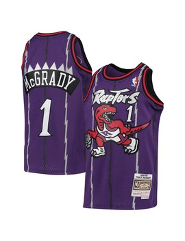 Youth Toronto Raptors Tracy Mc Grady Mitchell & Ness Purple 1998 99 Hardwood Classics Swingman Throwback Jersey by Nba Store