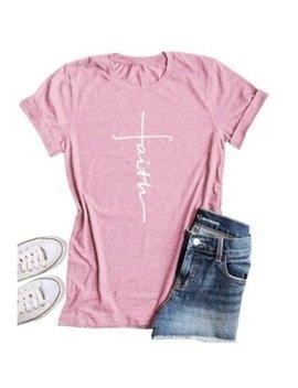 Women's Fashion Cross Faith T Shirt by Lovaru