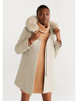 "<Font Style=""Vertical Align: Inherit;""><Font Style=""Vertical Align: Inherit;"">Synthetic Fur Hood Coat</Font></Font> by Mango"