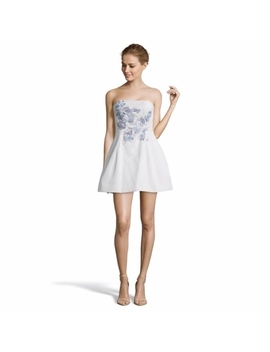 Marchesa Notte Light Blue Mini Dress Size 0 Nwt/New by Marchesa