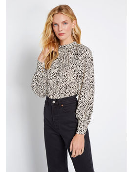 Wild Thoughts Long Sleeve Blouse by Louche