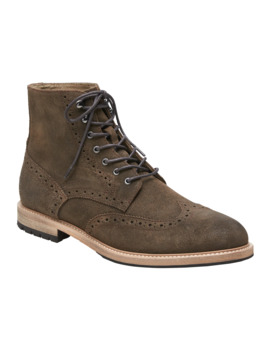 Booth Suede Brogue Boot by Banana Repbulic