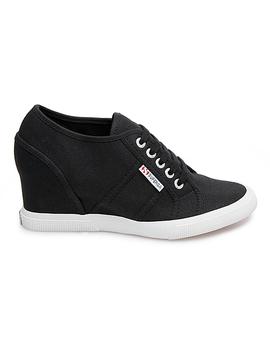 Black Wedge Sneaker   Women by Superga
