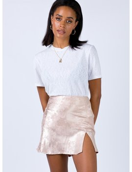 Manus Mini Skirt Champagne by Princess Polly