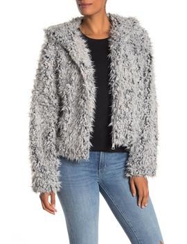 Hooded Faux Fur Jacket by Avec Les Filles