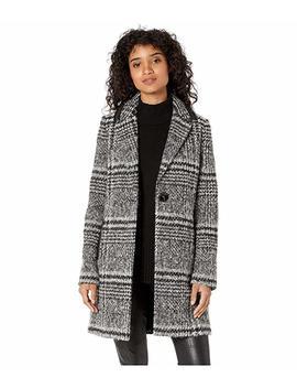 Single Breasted Cutaway Wool Coat by Sam Edelman