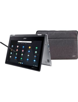 """Spin 11 2 In 1 11.6"""" Touch Screen Chromebook   Intel Celeron   4 Gb Memory   32 Gb E Mmc Flash Memory   Sparkly Silver by Acer"""