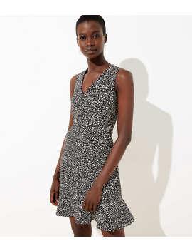 Petite Leopard Print Flounce Dress by Loft