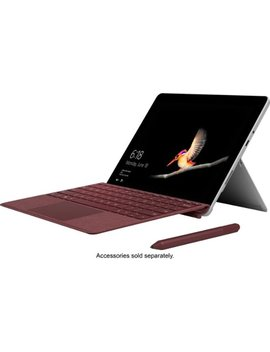 """Surface Go   10\"""" Touch Screen   Intel Pentium Gold   8 Gb Memory   128 Gb Storage   Silver by Microsoft"""