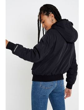 Calvin Klein Jeans Faux Fur Lined Bomber Jacket by Calvin Klein Jeans