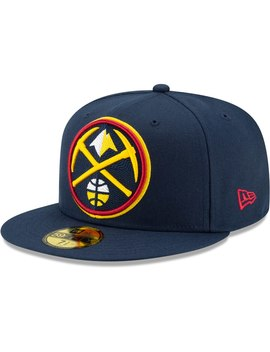 Men's Denver Nuggets New Era Navy Threads 59 Fifty Fitted Hat by Nba Store