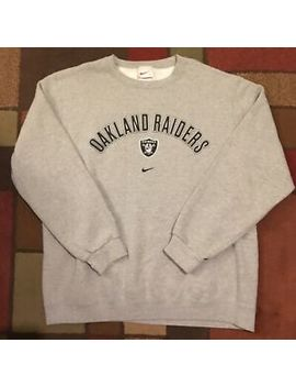 Vintage 90s Nike Sweatshirt Oakland Raiders Crewneck Mens Size Xl Made In Usa! by Nike