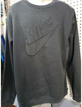 New Nike Men's Fleece Long Sleeve Embroidered Sweatshirt Charcoal Xl by Nike