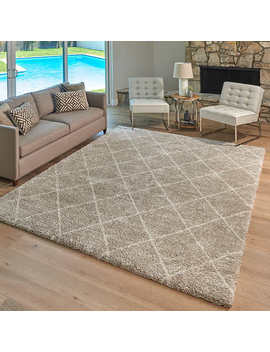 Lenox Shag Area Rug, Marrah Beige by Costco