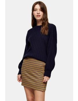 Navy Knitted Jumper With Cashmere by Topshop