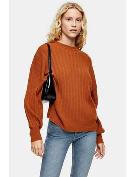 Brown Knitted Jumper With Cashmere by Topshop